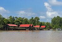 Abai Jungle Lodge am Ufer des Kinsbatangan Flusses