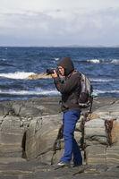 Naturfotograf am Atlantik