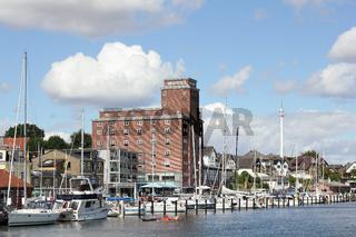 Pierspeicher und Hafen von Kappeln an der Schlei