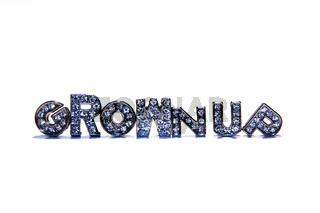 Wort GROWNUP freigestellt auf weißem Hintergrund