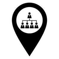 Hierarchie und Kartenmarkierung - Hierarchy and location pin