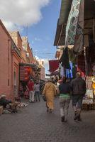Straßenszene im Souk, Medina, Marrakesch