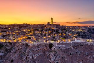 Blick auf die schöne Altstadt von Matera