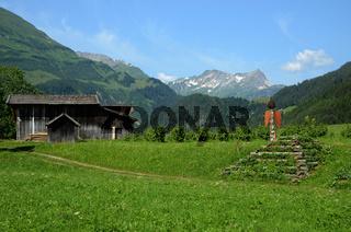 Almajurtal, Seitental des Lechtals in Tirol, Österreich