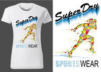 Frauen weißes Hemd Design mit Sport Motiv