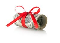 Dollars tied with a ribbon