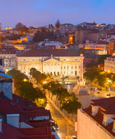 Rossio square Old Town Lisbon
