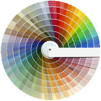 Round Color Palette Swatch Guide Cutout