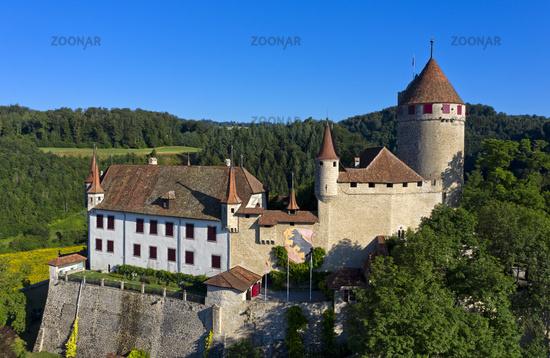 Schloss Lucens, chateau de Lucens, Lucens, Waadt, Schweiz