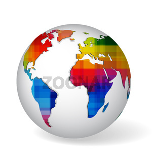 Rainbow colored glob icon