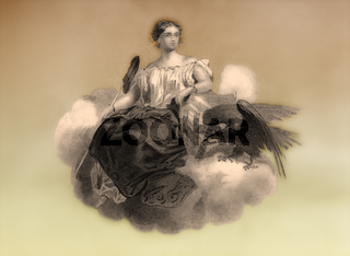 Allegory, United States of America, 19th century