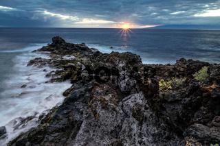 Sunset viewed from Callao Salvaje Santa Cruz de Tenerife Spain
