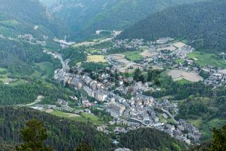 Cityscape in Summer of La Massana, Andorra