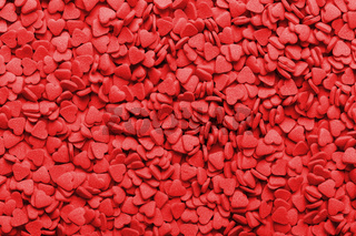 Heart shape red sweet candies