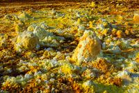 Dallol landscape close up, Danakil desert, Ethiopia
