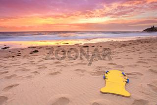 Beautiful summer beach sunrise Australia