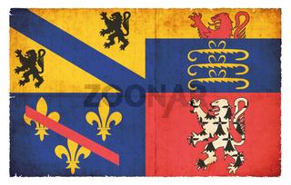 Grunge flag Ain (France)