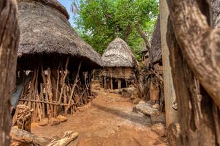 fantastic walled village tribes Konso, Ethiopia