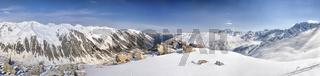 Scenic panorama of Kackar Mountains in Turkey