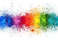 Color Paint Splashes Banner