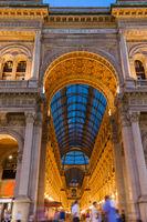 Vittorio Emanuele II Gallery in Milan Italy