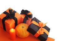Halloween pumpkin and gifts