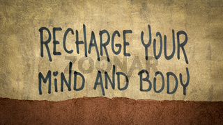 recharge your mind and body advice