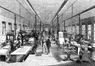 Industrial printing, 19th century, F. A. Brockhaus