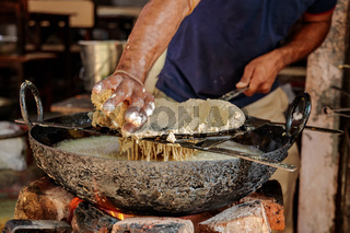 Murukku Indian street food Rajasthan state in western India.