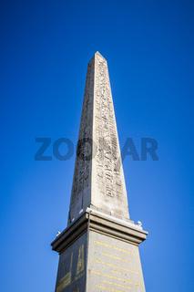 Obelisk of Luxor in Concorde square, Paris