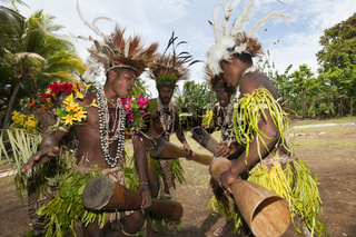Traditionelles Sing Sing, Papua Neuguinea
