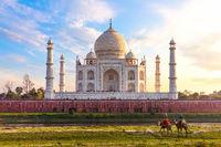 Taj Mahal, exotic India sight, Agra city