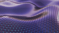 Futuristic wavy hexagon surface with back light realistic 3D Rendering