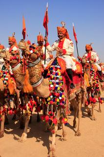 Camel procession at Desert Festival, Jaisalmer, India