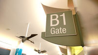 Sign on the Wall at the Airport indicates Gate 31
