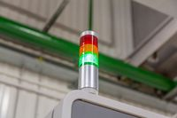 Color indicator of industrial machine operation