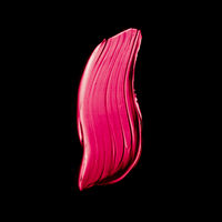 Pink lipstick brush stroke texture isolated on black background