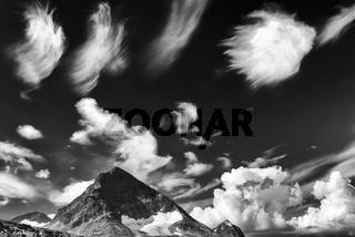 Wolkenstimmung, Sarek Nationalpark, Welterbe Laponia, Lappland