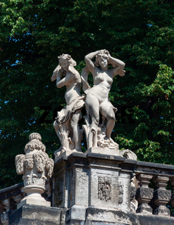 Female sculptures in Zwinger, Dresden