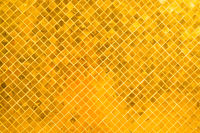 Closeup view of many gold shiny squares surface