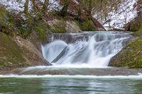 Wasserfall im Eistobel in Bayern