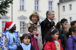 Hand-over ceremony of  the Christmas tree to the German President Joachim Gauck.