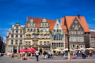 Historical market square in Bremen, Germany