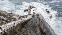 Rough coastline in Basque Country Spain