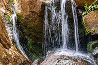 Small waterfall between stones