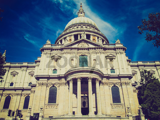 Retro look St Paul Cathedral London