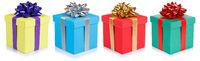 Weihnachten Geschenke Geburtstag Weihnachtsgeschenke Geburtstagsgeschenke Schachteln schenken isoliert