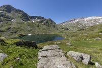 Einer der Giglachseen in der Steiermark, Österreich, im Sommer