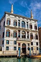 Venice, Italy - March 16, 2019 - Palazzo Coccina Tiepolo Papadopoli