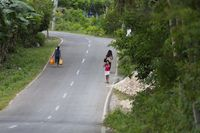 Rural Country Road on Bohol Island